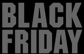 black friday in large block letters