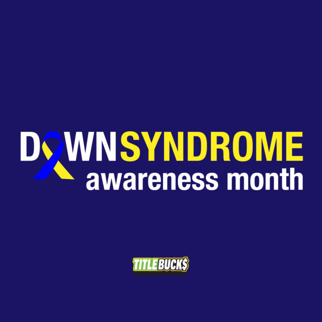 blue and yellow down syndrome awareness ribbon
