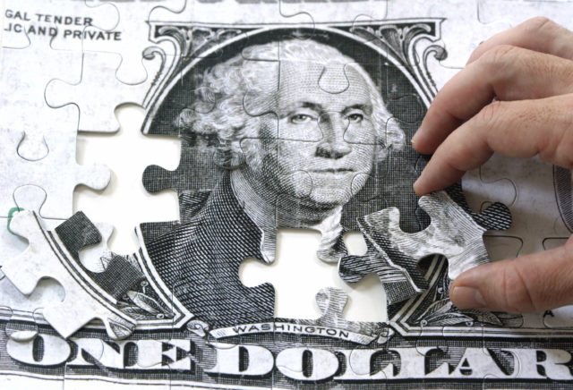 puzzle of a dollar bill