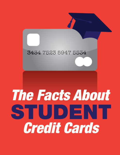 credit card wearing a graduation cap